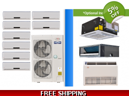 YMGI Multi 8 Zone 47K Mini Split Heat Pump AC Ductless Cassette Ducted
